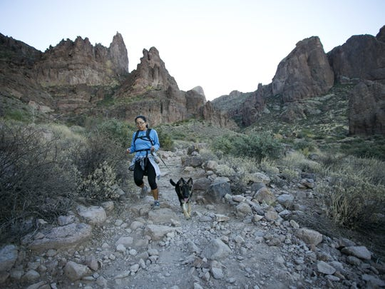 Jackie Vallejos and her dog, Kaia, of Apache Junction,