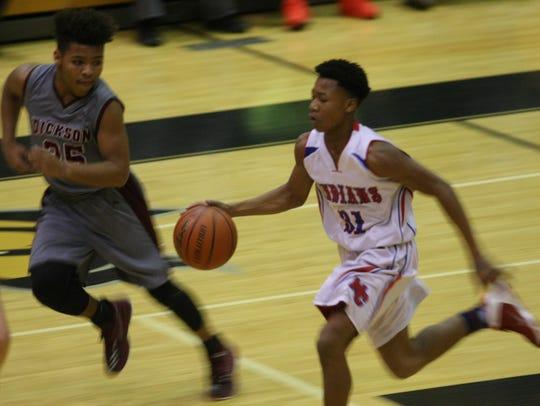 Montgomery Central's J.J. Wheat sprints down court