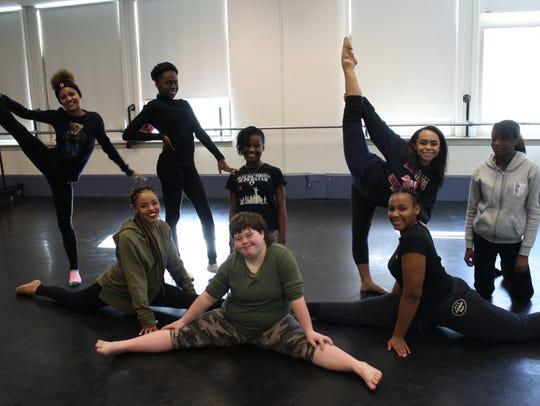 Dancers from Binghamton High School's dance program