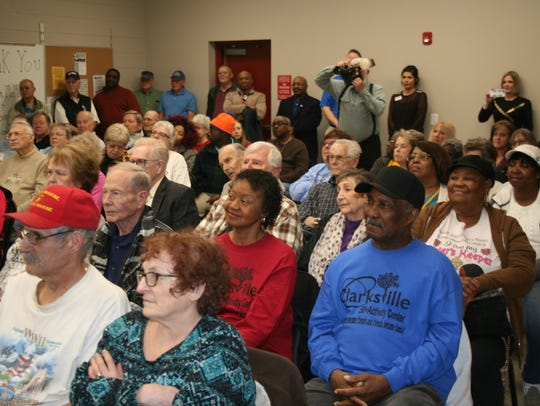 A big crowd gathered Wednesday for the dedication of