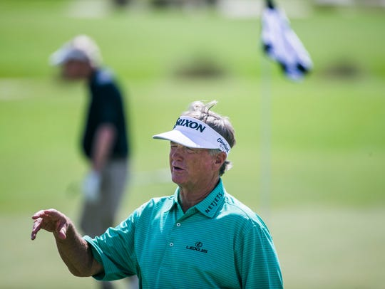 Peter Jacobsen during the Chubb Classic Pro-Am at TwinEagles