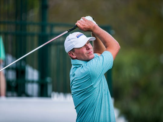 Steve Stricker tees off during the Chubb Classic Pro-Am last year. Stricker committed to both next week's Chubb Classic at Lely and the PGA Tour's Genesis Open at Riviera on Friday. He has until 3 p.m. Monday to withdraw from one of them.