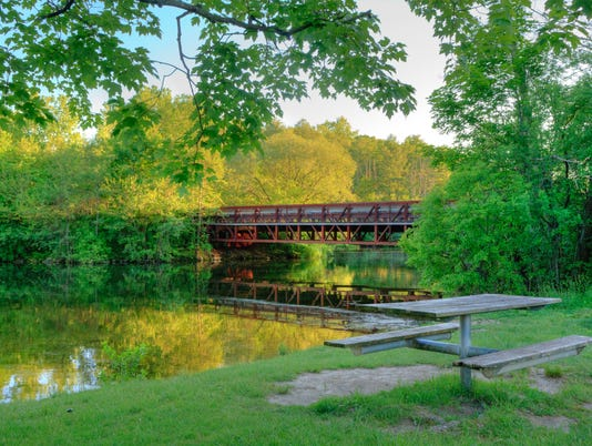 Footbridge over the Huron River, Ann Arbor