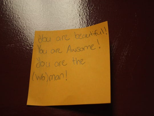 Binghamton High School teachers posted positive messages