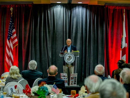 Retired Time Inc. President Dick Munro speaks to attendees