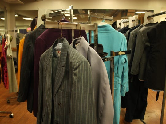 The costumes for J. Pierrepont Finch in Johnson City