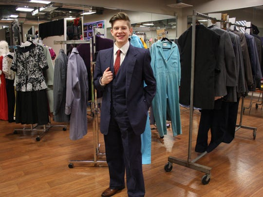 This suit, worn by Johnson City High School student
