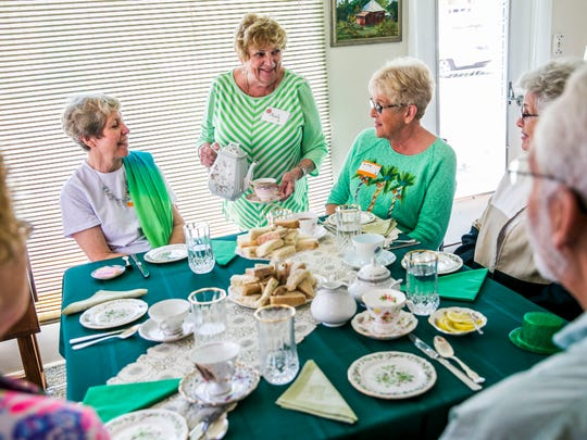 Tea is served during the Bonita Springs Historical Society tea event at the Historic Casner House in Bonita Springs on Friday, March 23, 2018.