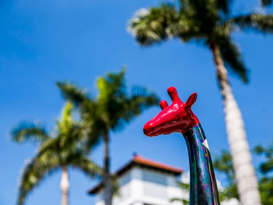 Art on display during the 30th Annual Downtown Naples