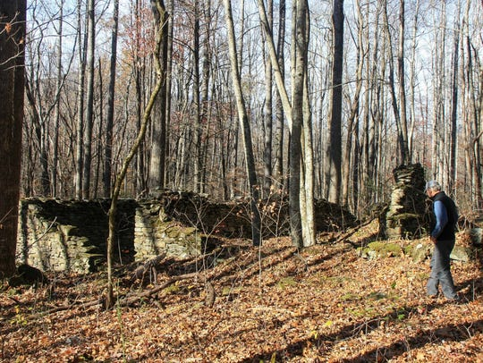Hike participants will walk through the remains of