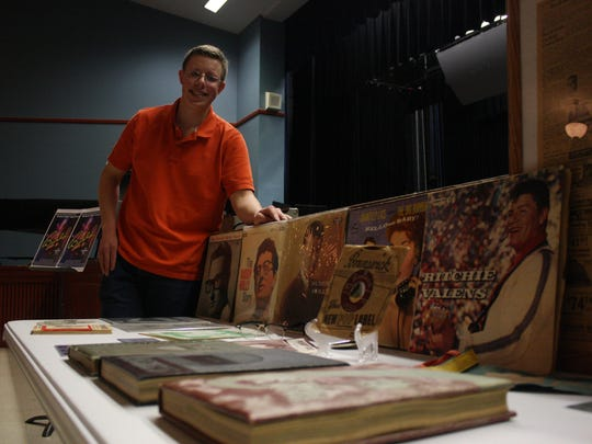 Maine-Endwell High School senior Luke Kaczynski has a collection of memorabilia related to the life and legacy of Buddy Holly.
