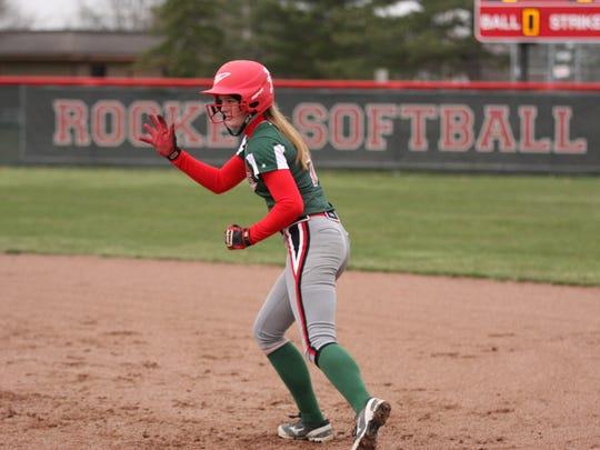 Oak Harbor's Emily Lenke has been off and running since joining varsity as a junior.
