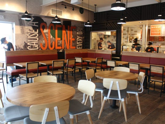 Blaze Pizza, located at 3714 Vestal Parkway, features a 2,600 square foot open kitchen restaurant and seats 78 diners.