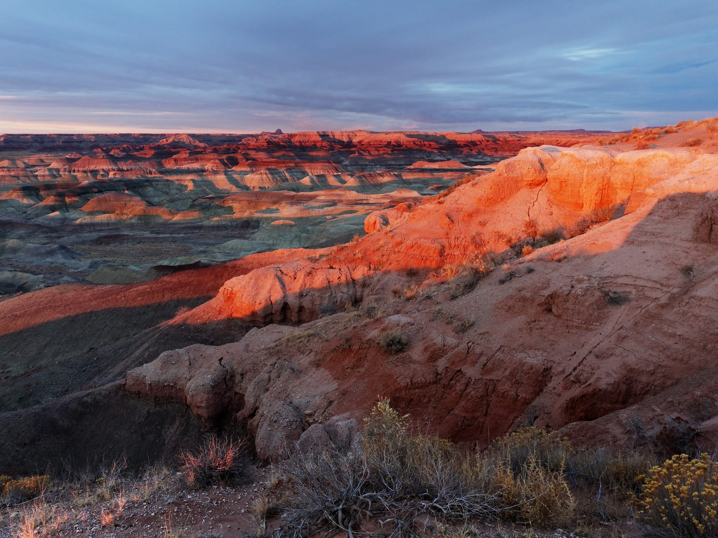 Little Painted Desert in the sunset, Northern Arizona.