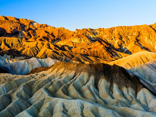 Zabriskie Point is a part of Amargosa Range located in east of Death Valley in Death Valley National Park in the United States noted for its erosional landscape.