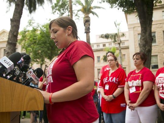 Rebecca Garelli, a leader in Arizona Educators United,