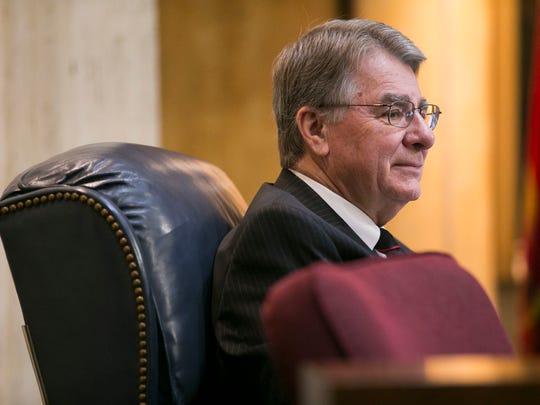 Senate President Steve Yarbrough on the Senate floor