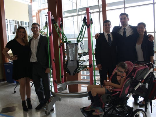 Senior biomedical engineering students created a modified