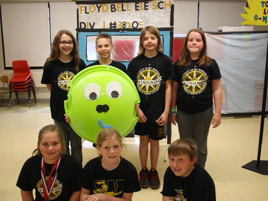 Windsor's Bell Elementary School is one of four local schools with a team heading to the Odyssey of the Mind World Finals at Iowa State University from May 23-26. The team rehearsed for the competition on May 3, 2018 at Bell Elementary School.