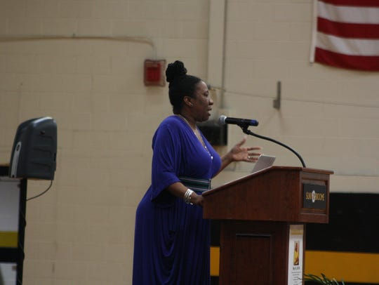 Tarana Burke, founder of #MeToo movement, speaks at
