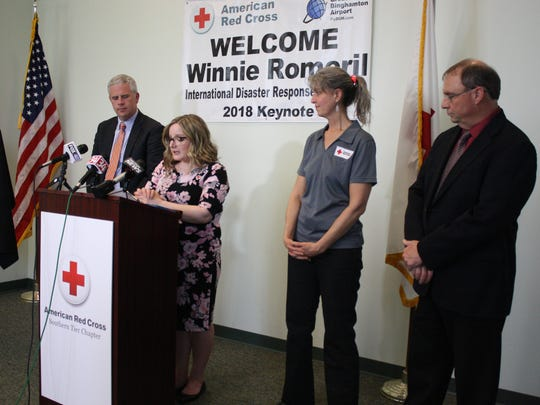 Broome County Executive Jason Garnar, Red Cross Southern