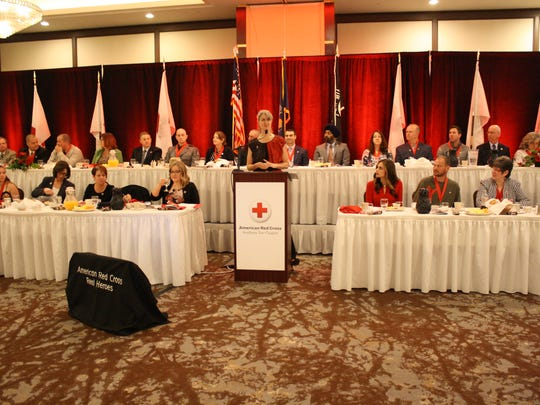 International Disaster Response Volunteer Winnie Romeril served as the keynote speaker at the Ninth Annual Real Heroes Breakfast at the DoubleTree by Hilton Binghamton Thursday morning.