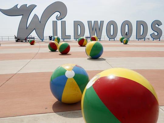The famous Wildwoods sign is seen on the boardwalk in Wildwood.