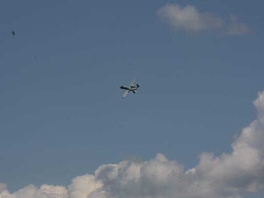The A-10 Thunderbolt flew into Binghamton Thursday