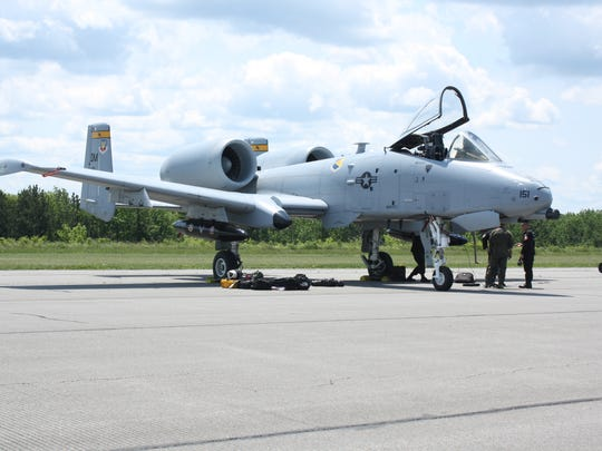 The A-10 Thunderbolt landed at the Greater Binghamton