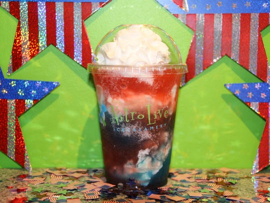 An ice cream float at Nitro Live Icecreamery.