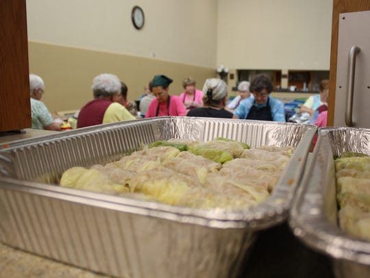 On Wednesday, about 20 volunteers from nine parishes