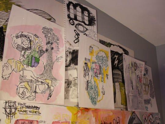 The walls of 16-year-old Phoenix Kacyvenski's Vestal