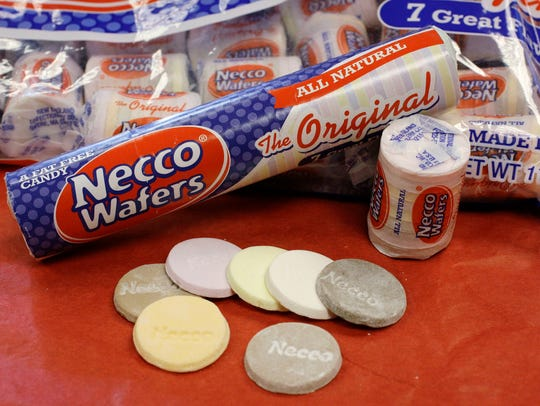 In this Oct. 14, 2009 file photo, Necco Wafers are