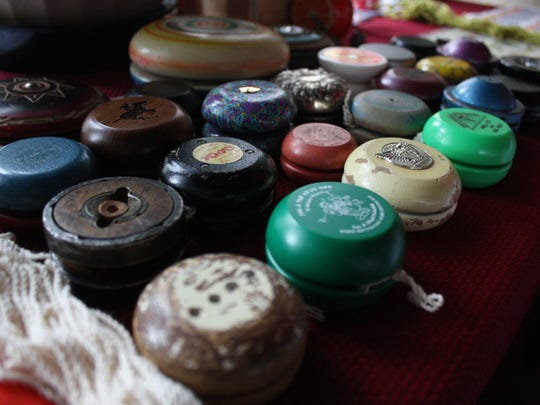 Chuck Pribulick, 75, of Endicott, has a collection of abouut 500-500 yo-yos.