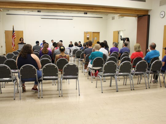 About 25 people attended Tuesday evening's Immigration