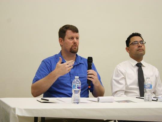 Binghamton University professors Kent Schull and Oscar-Gill