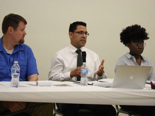 From left: Kent Schull, Oscar-Gil Garcia and Jada Jeremiah