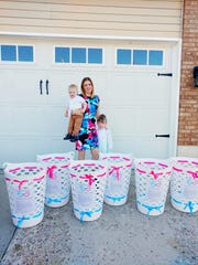 Donors collect bras for Utah's first Support the Girls  bra and feminine hygiene drive for homeless, refugee, and women suffering from domestic violence and abuse.