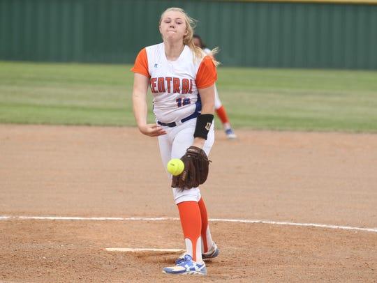 San Angelo Central High School freshman pitcher Baylee