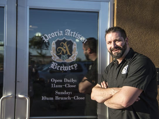 Peoria Artisan Brewery owner Matt Frosch at his 10144
