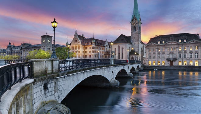 Zurich is the largest city in this European country whose economy has been rated the world's most competitive for six years straight.