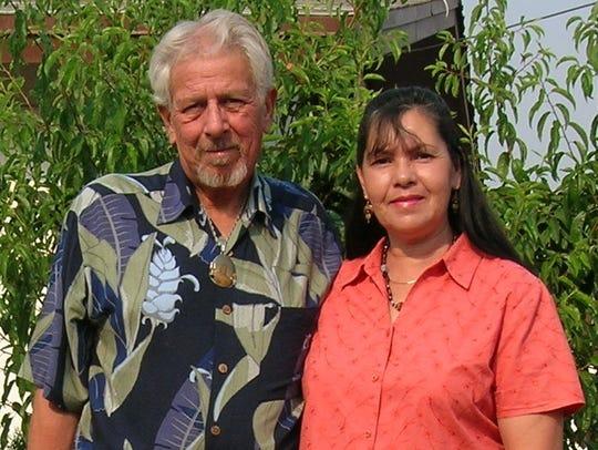 Santiago Santanova, here with his late wife Zandra,