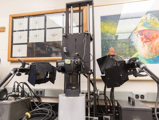 The photographic rig used to image small insects for