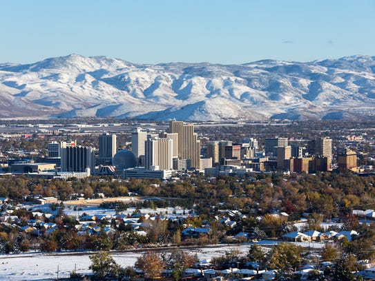 Downtown Reno and the Truckee Meadows.