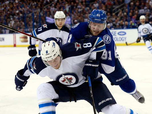 USP NHL: WINNIPEG JETS AT TAMPA BAY LIGHTNING S HKN USA FL