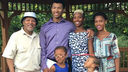 Apostle Fred Harris (left) is seen with his grandchildren and daughter Faith Harris-Green. This kids are Chadney Allen, 19, (center), Kara Allen, 17, Koi Green, 5, and Kaleigh Green, 4.