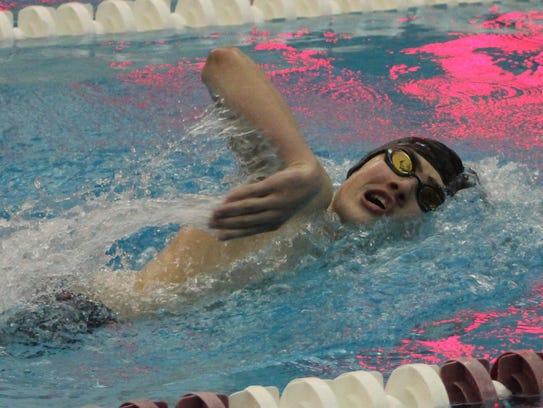 Bloomfield Hills senior distance swimmer Noah Zeigler