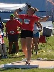 Valadian Pallett won her first national junior shot