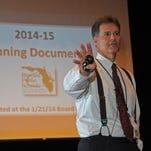 2014: Brevard Public Schools Superintendent Brian Binggeli discusses the school budget.