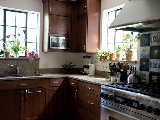 A recently remodeled kitchen in Marilyn Morehead's home in the Grandmont Rosedale Community on Friday, May 13, 2016 in Detroit.
